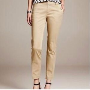 Banana Republic cropped Hampton pant size 2p